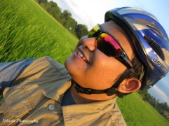 one biker